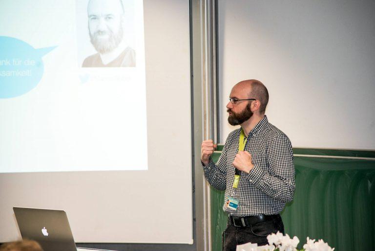Foto: Herr Weber am Rednerpult beim WUD 2017